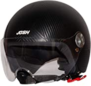 Steelbird SBH-16 Josh Dashing Open Face Helmet ( Dashing Black with Plain Visor)