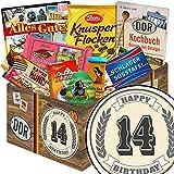 Geschenk zum 14. | Schokolade Set | Geschenk Korb | Schokoladenset | 14er Jahrestag Beziehung