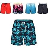 Ript Essentials Boy's Quick Dry UV 50 Sun Protection Peach Finish Swimming Swim Shorts Trunks