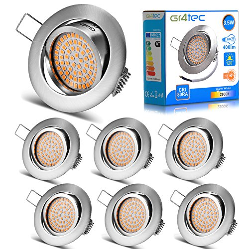 Foco LED empotrable ultra delgado blanco cálido orientable - Pack de 6