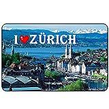 Cadora Magnetschild Kühlschrankmagnet I love Zürich