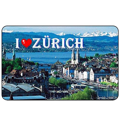 Cadora Magnetschild Kühlschrankmagnet I love Zürich (Humorvoll Kühlschrank-magnete)