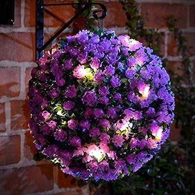 Solalite® 28cm Dual Function Solar Powered Topiary Garden Ball Sphere 20 Led Lights
