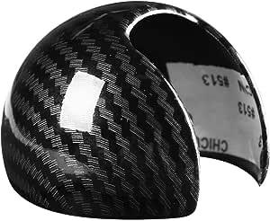 Outbit Schaltknaufabdeckung Carbon Fiber Style Car Schaltknauf Head Cover Cap Aufkleber Für Audi A3 8 V S3 14 18 Auto