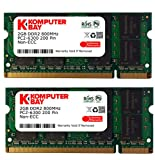 Komputerbay 4GB 2X2GB DDR2 800MHz PC2-6300 PC2-6400 SODIMM Laptop-Speicher