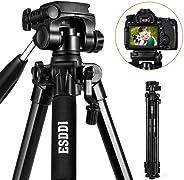 Treppiede - ESDDI 170 cm Treppiedi Fotocamera Alluminio Compatto Treppiede Leggero Per Canon Nikon Sony Olympus DSLR DV Comp
