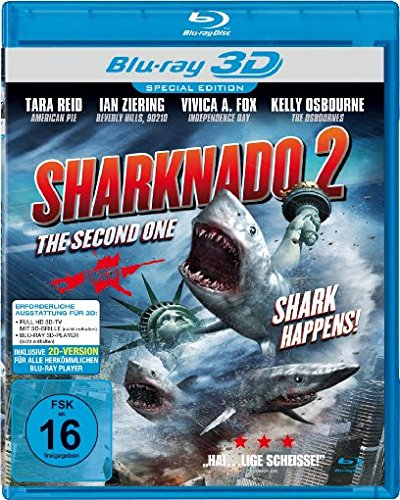 Sharknado 2: The Second One - Shark Happens! [3D Blu-ray]