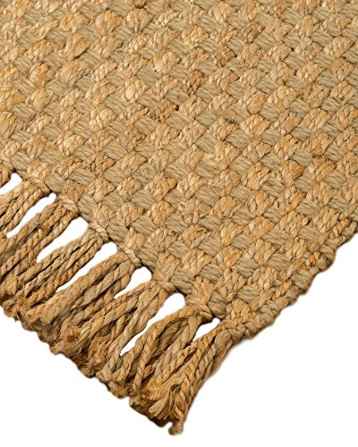NaturalAreaRugs Corolla Natürliche Jute Bereich Teppich, handgewoben, strapazierfähig, beige, 8' x 10' - 8x10 Bereich Teppich