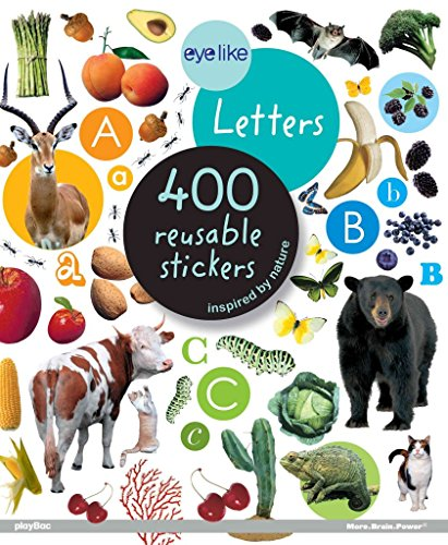 [(Eyelike Letters : 400 Reusable Stickers Inspired by Nature)] [Created by playBac] published on (September, 2012)