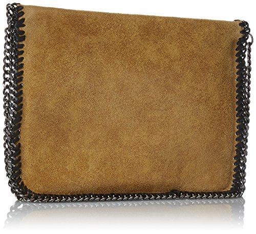 Chicca Borse Damen Unterarmtasche, 24 Cm Orange (cuoio)