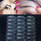 Akoak Augenbrauen-Schablonen, 24Formen, 6Sets, für Augenbrauen-Pflege, Make-Up, Form, Vorlage