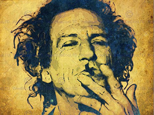 PAINTING PORTRAIT POP STAR MUSICIAN KEITH RICHARDS ART PRINT POSTER HP1764 (Pop-star Artikel)