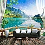 Blauer Himmel See Wald Natur Landschaft Foto Wand Wandbild Wohnzimmer Schlafzimmer Hintergrund Tapete Tapete