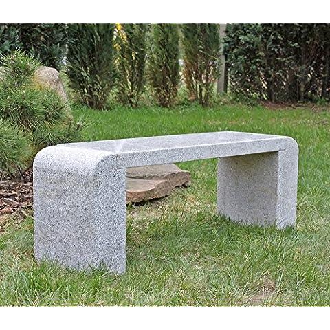 Diseño Granito Jardín Banco de Massive Granito Piedra Banco de piedra natural gris Diseño Banco sitzf Lache Pulido Natural bordes redondeados 3piezas 3piezas compacta