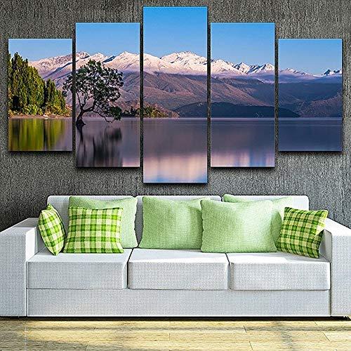 Zaosan Wohnzimmer HD 5 bekleidet schönes See- und Berglandschaftsmodernes Wandgemälde