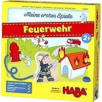 HABA 303807 - Meine ersten Spiele – Feuerwehr | Spannendes Memospiel für 1-4 Spieler ab 2 Jahren | Spieleschachtel wird zur bespielbaren Feuerwache