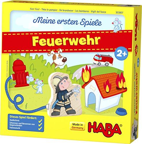HABA 303807 - Meine ersten Spiele - Feuerwehr Spannendes Memospiel für 1-4 Spieler ab 2 Jahren