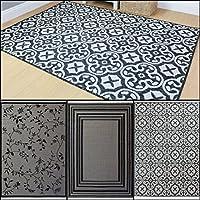 Modern Flatweave Grey in 3 Designs Rug in Various sizes Indoor - Outdoor Carpet from Lord of Rugs