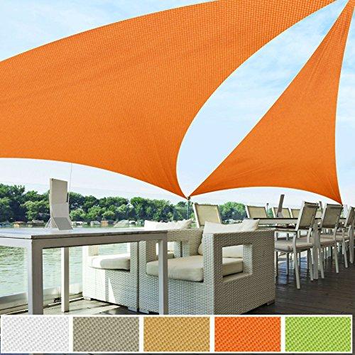 Voile d'ombrage triangle casa pura® orange | résistante, épaisse | imperméable, lavable en machine | 3x3x3m