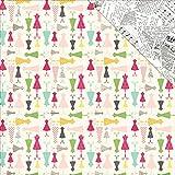 Echo Park Paper Petticoats und Nadelstreifen Doppelseitig Karton 12Zoll x 12-inch-Girl Darling Kleider (25Stück)