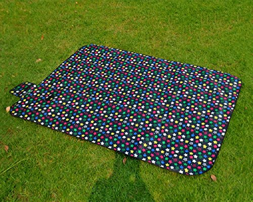 ZGYZ Wasserdicht Picknick Blanket Beach Rug Mat Großes Baby Crawling oder Child Play Mat Perfekt für Camping-Trips & die Freien, schwarz,150 * 150
