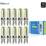 Elinkume® 10X G9 LED Lampe 5.5Watt Kaltweiß 104 * 3014 SMD Stecklampe Sparlampe Leuchtmittel