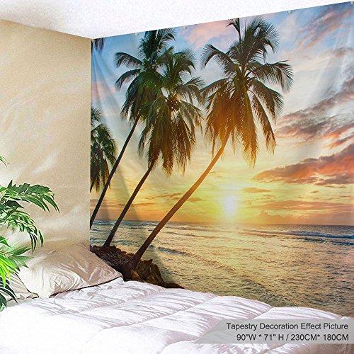 Xinyi Home Wand aufhängen Natur Polyester-Art-Sea Beach Thema Szenerie, Wand Decor für Wohnheim Zimmer, Schlafzimmer, Wohnzimmer, Nagel Enthalten 90