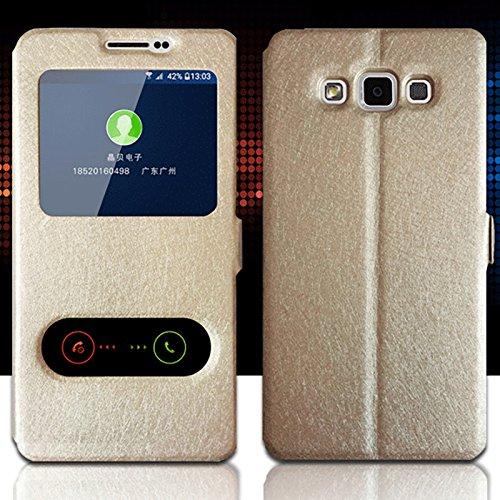 Für Samsung Galaxy A32015A300Fall, mixneer Farbe superdünn Anti-Shell Fashion Vorne Sichtfenster Leder Flip Schutzhülle für Samsung Galaxy A32015A300-, Samsung Galaxy Note 5, Blau A300 Fällen