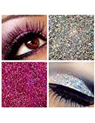 Glitter Eyes Duo Set 12 - Pink & Silver Holographic Eye Shadow Fixing gel Long Lasting