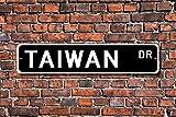 Metall Stree Taiwan Geschenk Schild Souvenir Taiwan Native