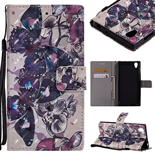 CHENJUAN 3D-Flash Painted Design für Sony Xperia E6 / Sony Xperia L1, PU-Leder aufgeteilter Flip-Cover (Pattern : 2)