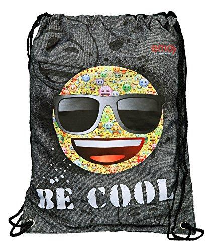 emoji sportbeutel Undercover Schuhbeutel, Emoji, Circa 45 x 33 Turnbeutel, 45 cm, Grau