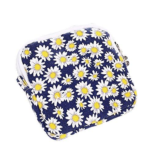Longra Donna Stoccaggio Cosmetic Bag Borsa in cotone lana Giallo
