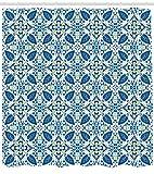 Nyngei Gialla e Blu Tegole portoghesi Tradizionali Mosaico Astratto Motivo Floreale con Motivo a ricciolo Arredocon Blu Arancione Giallo