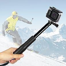 GoPro Stick, Erweiterbar Self Portrait Wasserdicht Aluminium Selfie Stick Pole Handheld Monopod Pole für GoPro Hero 5, 4, Session, 3+, 3 und andere Action Cam, ideal für Surfen, Ski, Tauchen, Reisen