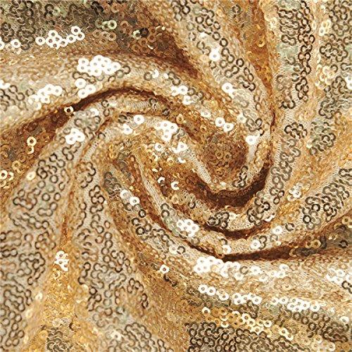 EALSN Frauen Pailletten Abend Party Kleider Sleeveless V-Ausschnitt Cocktail Lange Kleider,Gold-S - 6