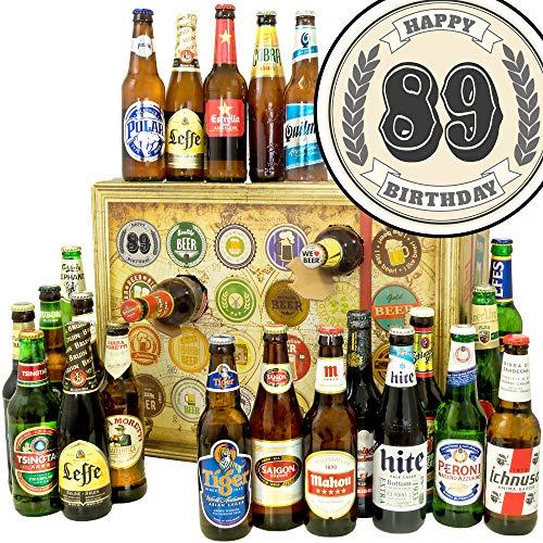 89. Geburtstagsgeschenk | Bieradventskalender mit Bieren aus aller Welt | Geschenke 88. Geburtstag Frau | INKL gratis Bierbuch