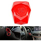 Lfhing Car Ignition Button Car Switch Button Universal Car Engine Start Stop Push Button Switch Cover Decorative Trim Sticker Alloy red