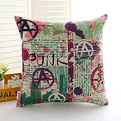Generic Europa Creative Ilustración Style lino y algodón funda de almohada Home coche sofá cama funda de cojín (18x