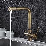 Daadi Küche bad waschbecken wasserhahn Antike heiße und kalte Küche Wasseraufbereiter doppel Waschbecken wasserhahn Wasserhahn Wasserhahn heraus drehen