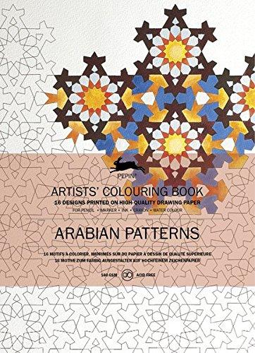 Arabian patterns : 16 motifs à colorier, imprimés sur du papier à dessin de qualité supérieure (Pepin Artist Colouring Book) por Pepin Van Roojen