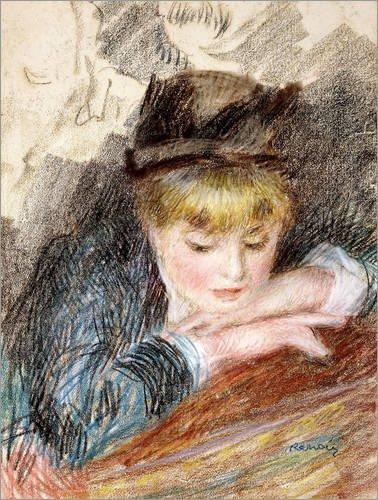 Poster 60 x 80 cm: Die Hütte von Pierre-Auguste Renoir/Bridgeman Images - hochwertiger Kunstdruck, neues Kunstposter