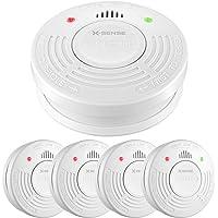 X-Sense SD10A Détecteur de Fumée Alarme Incendie Pile Garantie 10 Ans avec Capteur Photoélectrique (Lot de 5)