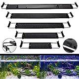 GreenSun 25W 94cm Aquarium Beleuchtung LED Aquariumlicht Aquariumleuchten Aquariumlampen 144*2835SMD 120 weiß +24 blau 10cm Docking Halterungen Einstellbare Länge für Fisch Tank