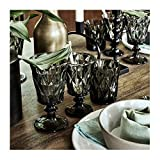 Nordal - Diamond - Whiskyglas, Wasserglas, Saftglas - Glas - Farbe: Smoke, Grau - mit schönen Facetten