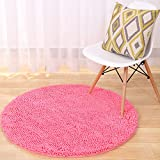 garwarm redondo escalonado (Chenille suave antideslizante superficie fácil de limpiar alfombras...