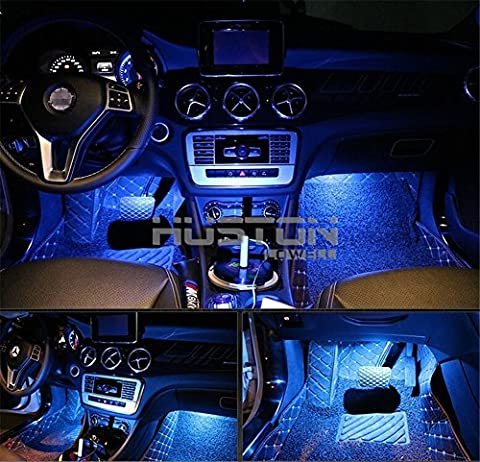 Aution House - 4Pcs Car LED Interior Underdash Lighting Kit Led Car Interior Light Auto Interior Lights Car Auto Interior LED Atmosphere Lights (Blue)