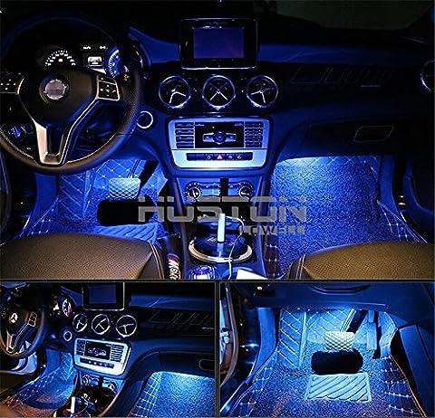 Aution House - 4Pcs Car LED Interior Underdash Lighting Kit Led Car Interior Light Auto Interior Lights Car Auto Interior LED Atmosphere Lights