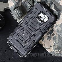 Galaxy S6 Edge Plus Carcasa, Cocomii® [HEAVY DUTY] Galaxy S6 Edge Plus Robot Case **NUEVO** [ULTRA FUTURO ARMOR] Premium Funda Con Clip Para Cinturón Pata De Cabra Kickstand Bumper Case [DEFENSOR MILITAR] De Todo El Cuerpo Híbrido Doble Capa Resistente Cubierta Protectora Cover Bumper Case [COCOMII GARANTÍA] ::: La Mejor Protección Frente A Caídas Y Las Repercusiones De Su Samsung Galaxy S6 Edge Plus ::: ★★★★★ (Black/Black)