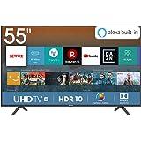 "Hisense H55BE7000 Smart TV LED Ultra HD 4K 55"", HDR, Dolby DTS, Slim Design, Tuner DVB-T2/S2 HEVC Main10 [Esclusiva…"